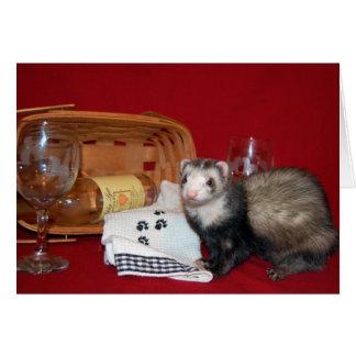 Ferret - Wine Card