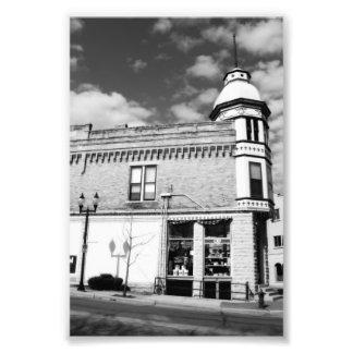 Ferretería céntrica pintoresca blanco y negro fotografía