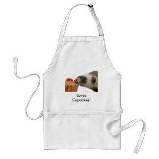 Ferrets Love Cupcakes Adult Apron