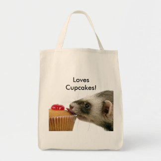Ferrets Love Cupcakes Tote Bags