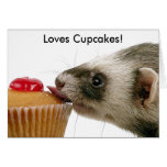Ferrets Love Cupcakes Greeting Card