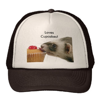 Ferrets Love Cupcakes Hats