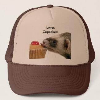 Ferrets Love Cupcakes Hat