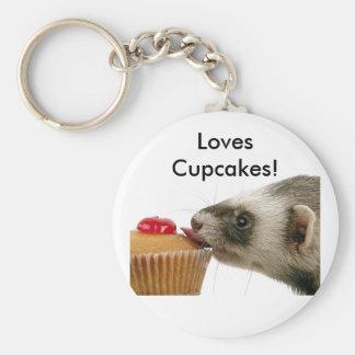 Ferrets Love Cupcakes Keychain