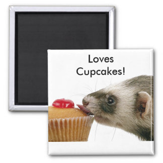 Ferrets Love Cupcakes Magnet