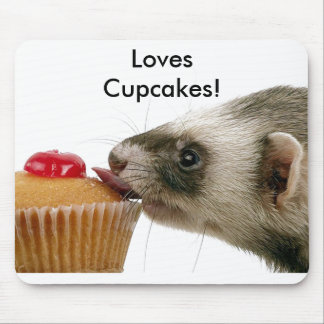 Ferrets Love Cupcakes Mouse Pad