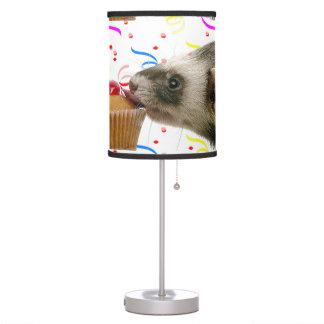 Ferrets Love Cupcakes Table Lamp