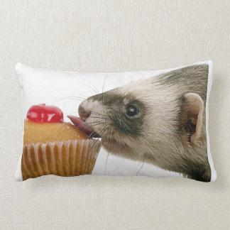 Ferrets Love Cupcakes Throw Pillow Lumbar