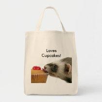 Ferrets Love Cupcakes Tote Bag