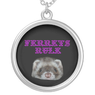 FERRETS RULE SILVER PLATED NECKLACE