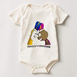 Ferrets Vs Lemmings Baby Bodysuit