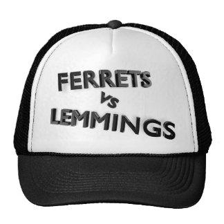 Ferrets Vs Lemmings logo hat