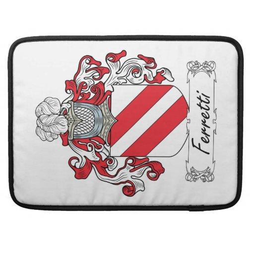 Ferretti Family Crest Sleeve For MacBooks
