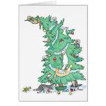Ferrety Christmas Greeting Card