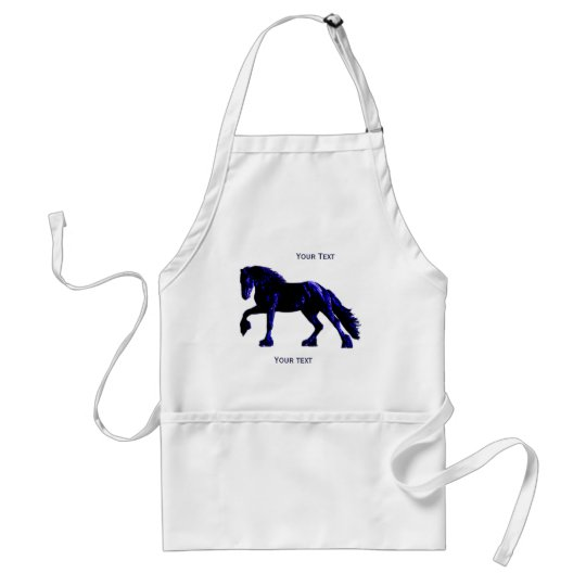 Ferrier Apron, customizable neon horse Adult Apron