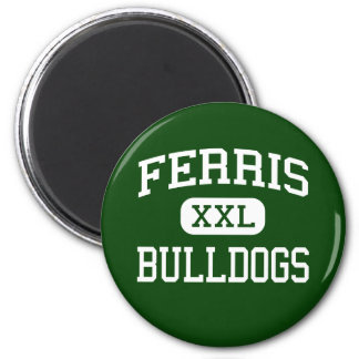 Ferris - Bulldogs - High - Jersey City New Jersey 2 Inch Round Magnet
