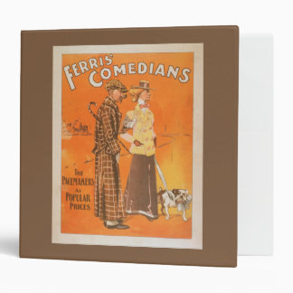 """Ferris Comedians """"Pacemakers at Popular Prices"""" 3 Ring Binder"""
