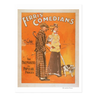 "Ferris Comedians ""Pacemakers at Popular Prices"" Postcard"