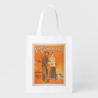 """Ferris Comedians """"Pacemakers at Popular Prices"""" Reusable Grocery Bag"""