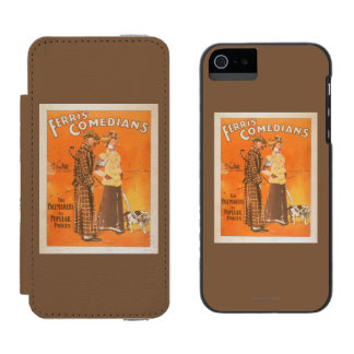 """Ferris Comedians """"Pacemakers at Popular Prices"""" Incipio Watson™ iPhone 5 Wallet Case"""