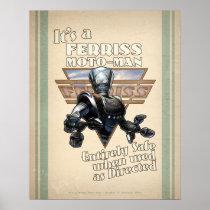 "Ferris Moto-Man Retro Robot poster (16x20"")"