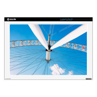 """Ferris Themed, View From Below A Large, White Ferr Decal For 17"""" Laptop"""