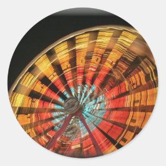 ferris wheel 10 2007 classic round sticker