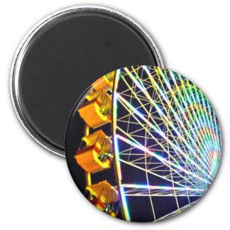 Ferris Wheel 2 Inch Round Magnet