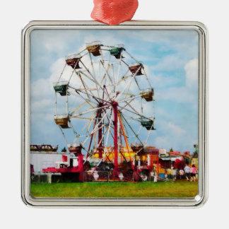 Ferris Wheel Against Blue Sky Christmas Ornaments