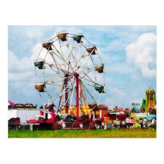 Ferris Wheel Against Blue Sky Postcard