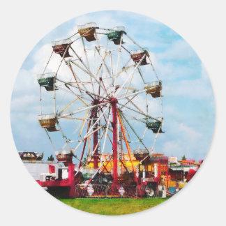 Ferris Wheel Against Blue Sky Stickers