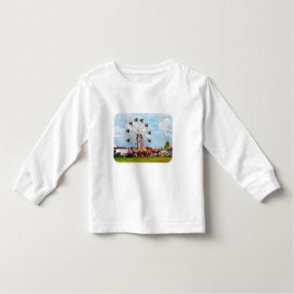 Ferris Wheel Against Blue Sky Tshirt
