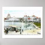 Ferris Wheel, Asbury Park, NJ Vintage Print