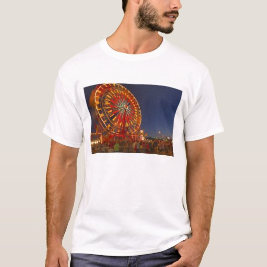 Ferris wheel at dusk at the Northwest Montana T-Shirt