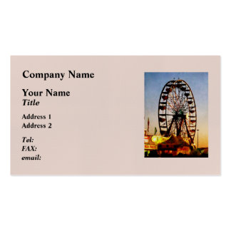 Ferris Wheel at Night Business Card
