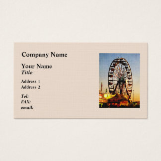 Ferris Wheel at Night Business Card