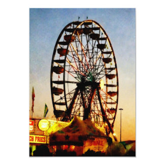 Ferris Wheel at Night Card