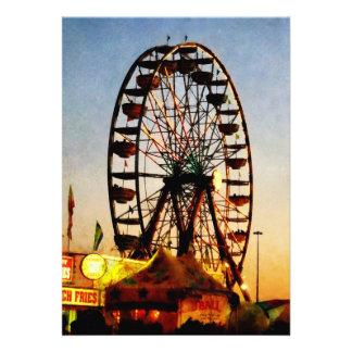 Ferris Wheel at Night Personalized Invite