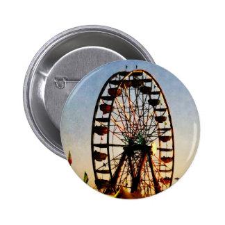 Ferris Wheel at Night Pinback Button