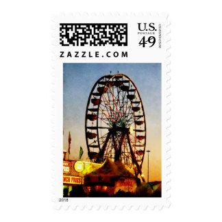 Ferris Wheel at Night Postage