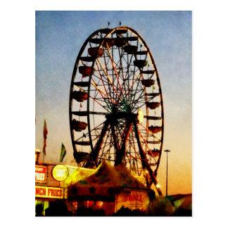 Ferris Wheel at Night Postcard