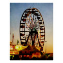 Ferris Wheel at Night print