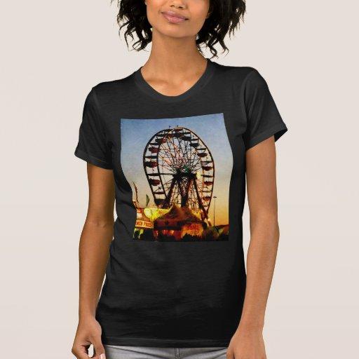 Ferris Wheel at Night T-shirts