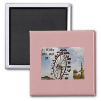 Ferris Wheel at Palace Playland Old Orchard Beach 2 Inch Square Magnet
