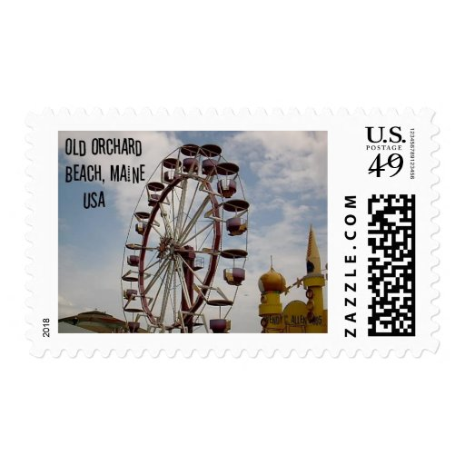 Ferris Wheel at Palace Playland Old Orchard Beach Postage Stamps