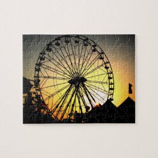 Ferris Wheel at Sunset Puzzle