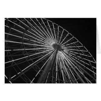 Ferris Wheel B&W Card