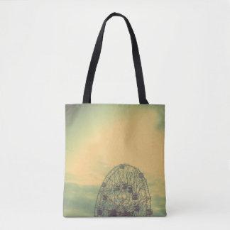 Ferris Wheel Carnival Amusement Park Tote Bag