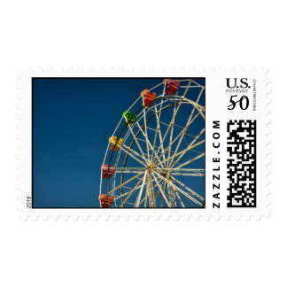 Ferris Wheel Carnival Postage Stamp