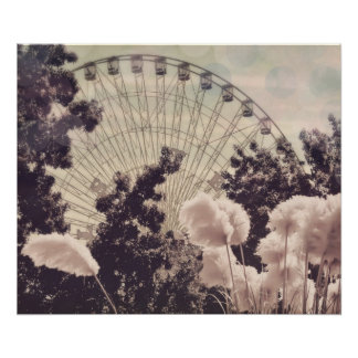 Ferris Wheel Carnival Poster